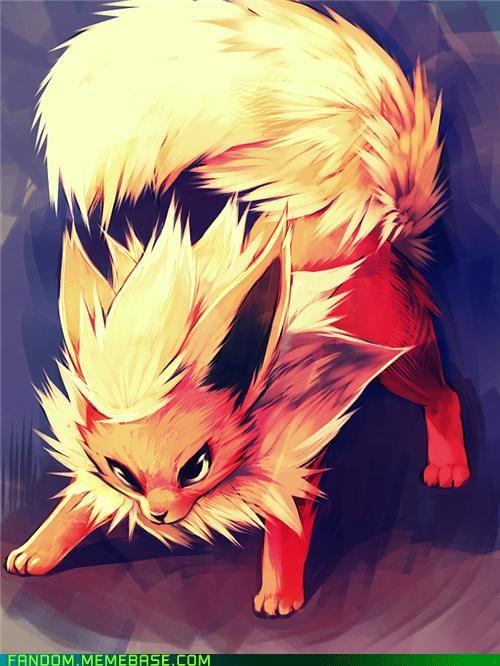 eeveelution Fan Art flareon Pokémon - 5390873600