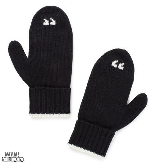 clever cold design gloves mittens punctuation winter Winter Wonderland - 5390951936