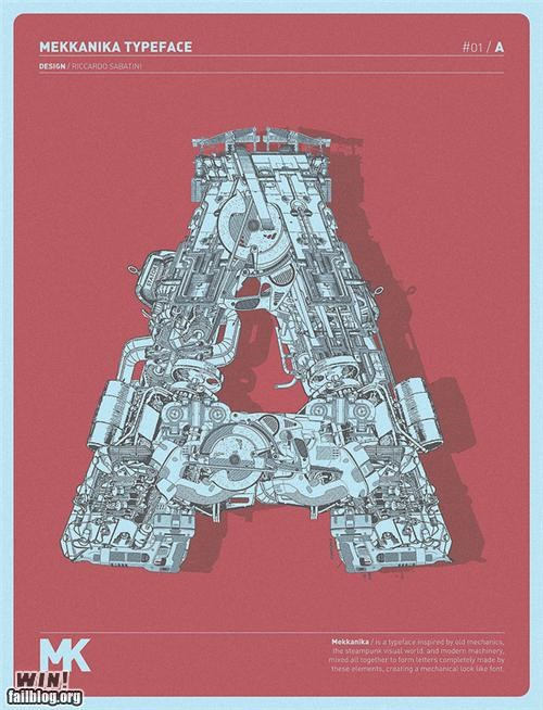 art design detailed engineering mechanical nerdgasm robot transformers typeface - 5390964480