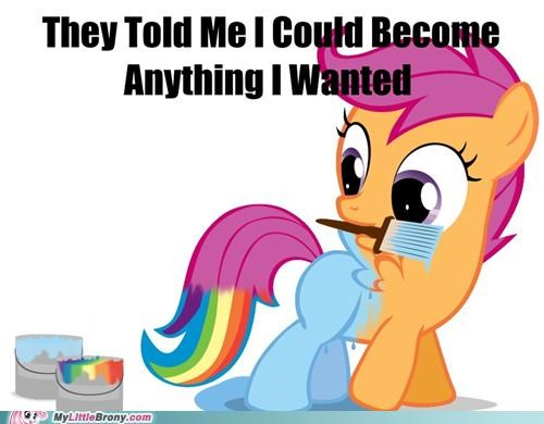 anything i wanted meme new pet paint rainbow dash Scootaloo - 5390967296