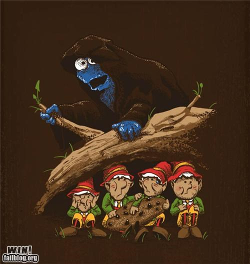 design Lord of the Rings nerdgasm pop culture Sesame Street shirt - 5390994176