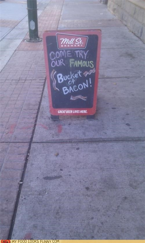 bacon,bar,restaurant,sandwich board,sign