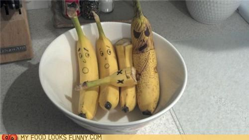 bananas,beheaded,drawing,executioner,faces,kill,scared