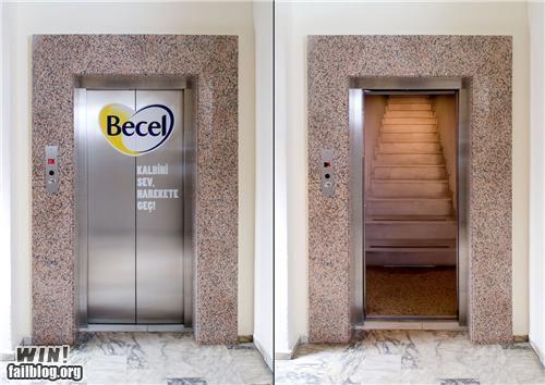 door elevator staircase stairs surprise - 5391076352