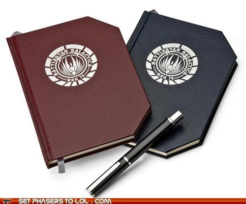 Battlestar Galactica BSG cool coworker cylons notebook work - 5391112704