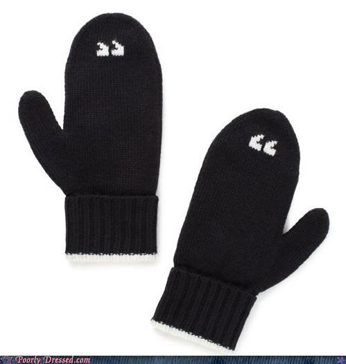 air quotes mittens so punny - 5391494144