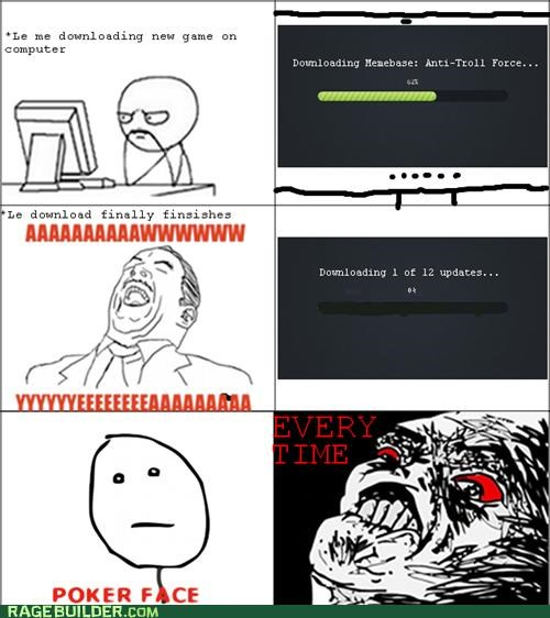 download,pokerface,Rage Comics,updates