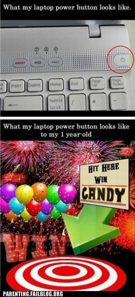accident baby button candy fffffffuuuuuuu free stuff laptop Parenting Fail