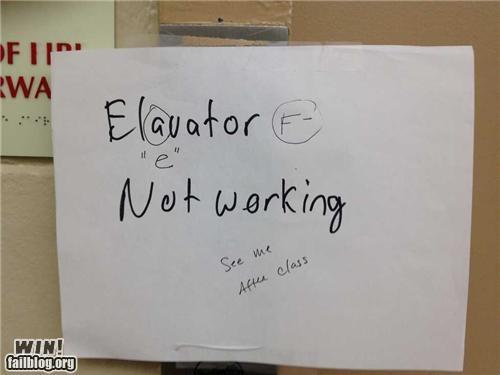 correction elevator grammar grammar nazi sign spelling - 5391790592