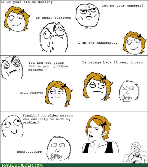age customer intern manager Rage Comics