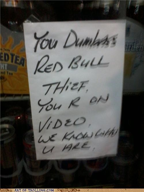 IRL,red bull,sign,thief
