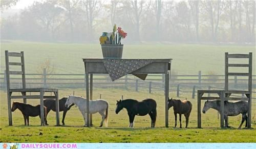 acting like animals art giant Hall of Fame height horse horses not perception pygmy size standing table - 5391996160
