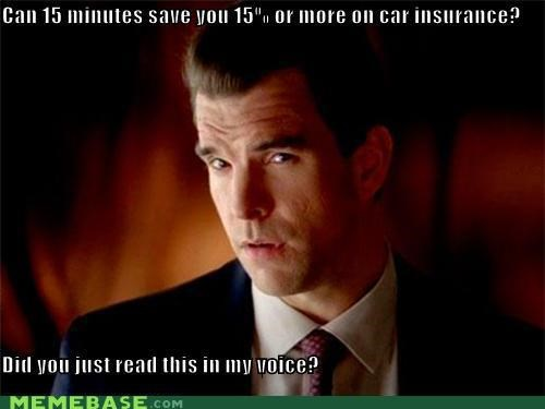 car insurance commercial GEICO Memes reading voice - 5392150016