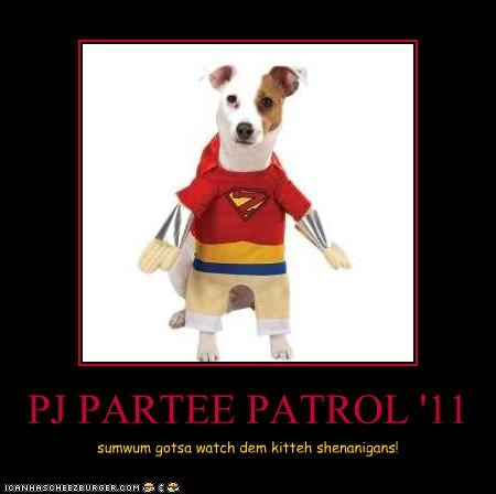 PJ PARTEE PATROL '11 sumwum gotsa watch dem kitteh shenanigans!