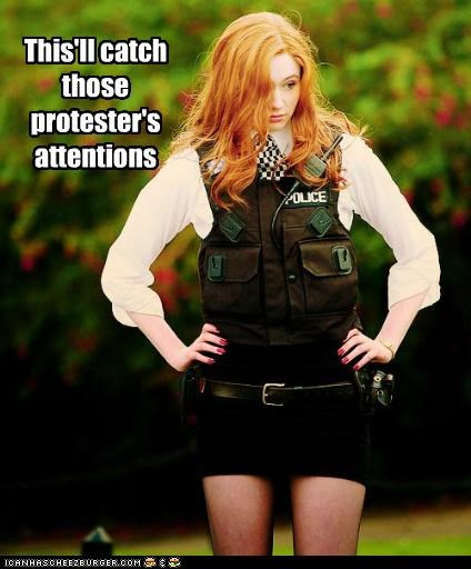 amy pond,doctor who,karen gillan,Occupy Wall Street,protesters