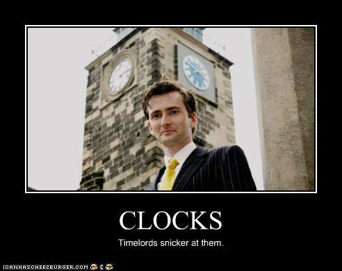 clocks,David Tennant,doctor who,the doctor,Time Lords