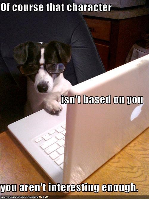 author,character,computer,fictional characters,glasses,important,laptop,rat terrier,story,technology,terrier,writer,writing
