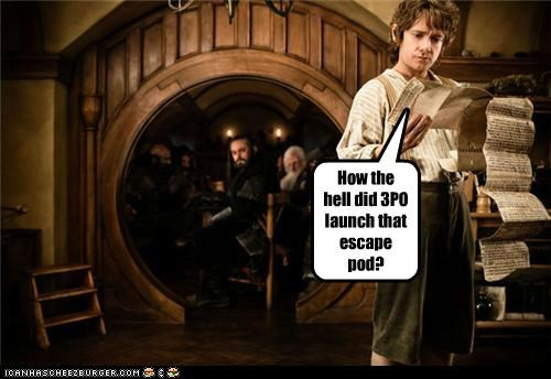 Bilbo Baggins c3p0 escape pod Martin Freeman The Hobbit