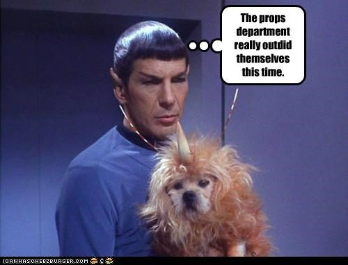 cheap,dogs,Leonard Nimoy,props,Spock,Star Trek