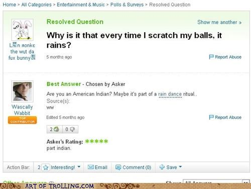 balls,rain,Rain Dance,Yahoo Answer Fails