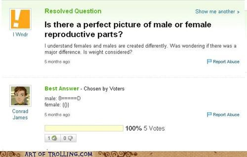 ascii art p3n0r reproductive parts vagoo Yahoo Answer Fails - 5394020352
