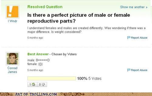 ascii art p3n0r reproductive parts vagoo Yahoo Answer Fails - 5394020352