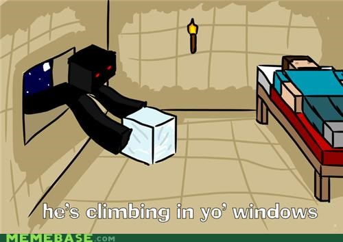 bed intruder enderman Memes minecraft slenderman snatching video games - 5394213888