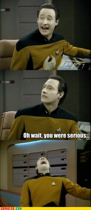 data,funny,humans,Star Trek