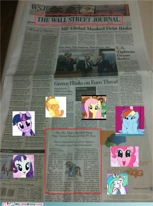 best of week,Bronies,front page,IRL,mane six,news,newspaper,wall street journal