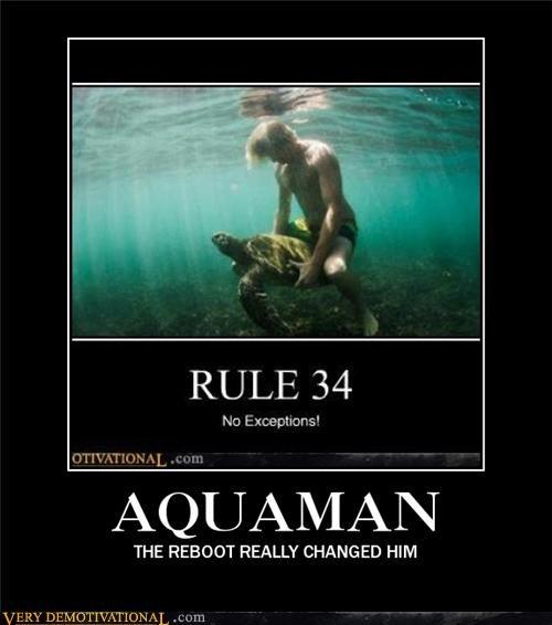 aquaman DC hilarious horse love reboot wtf - 5394425088