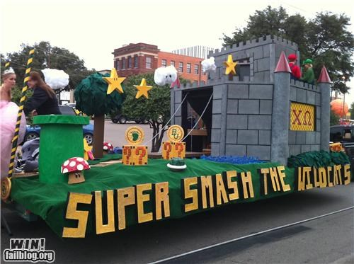 float nerdgasm nintendo parade school super smash bros - 5394686464