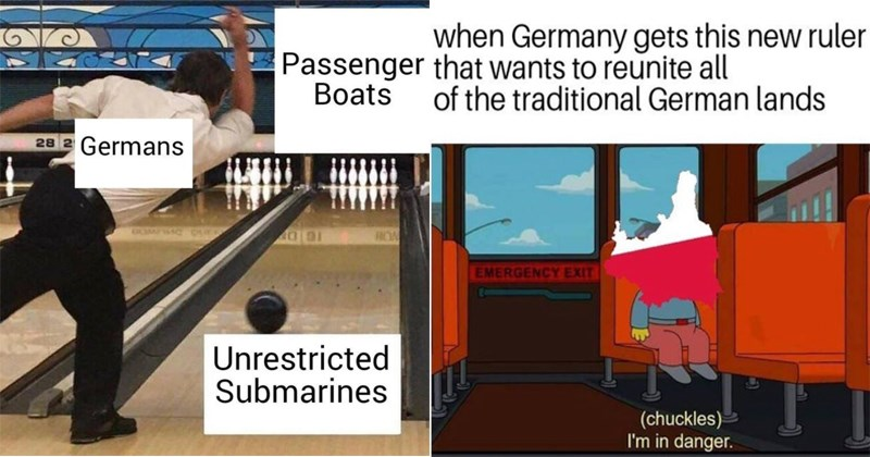 Funny history memes, poland, europe, united states, war, world war II, england, france, italy, language, genocide, china, mao, nasa, africa, colonialism.