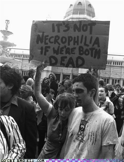 best of week hipsterlulz necrophilia sign zombie - 5394789376