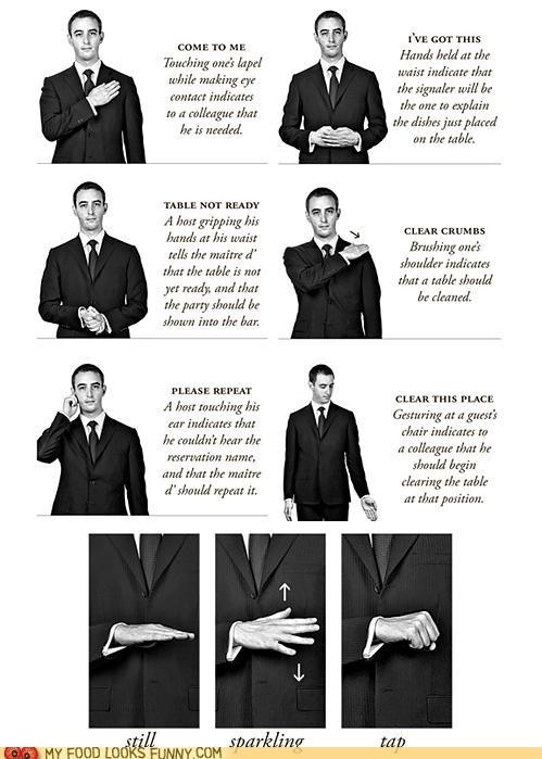Chart infographic maitre-d secrets waiter
