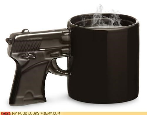 grip gun handgun handle mug pistol