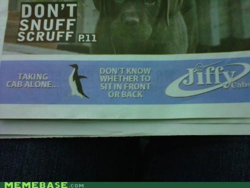 ads advertisement alone cab Memes - 5394926336