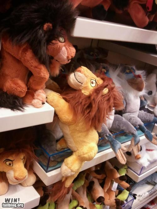 cartoons clever disney disney store lion king Movie stuffed animal toy - 5394941696