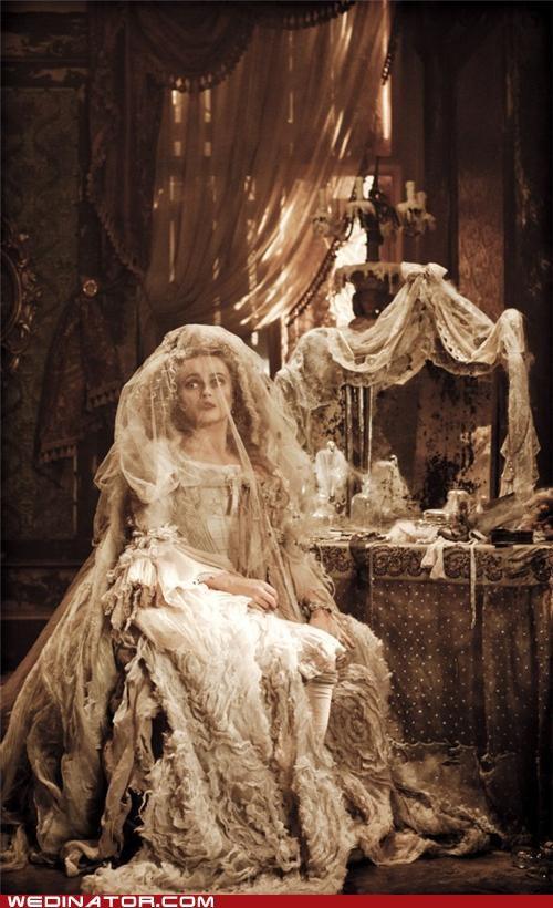 charles dickens funny wedding photos Great Expectations helena bonham-carter Miss Havisham wedding dress - 5395128064