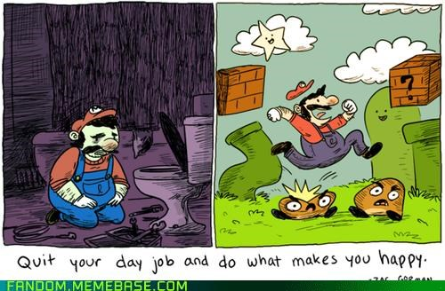 Fan Art life advice mario plumber video games - 5395137536