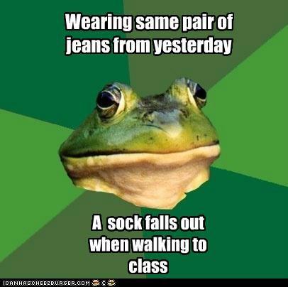 class dirty foul bachelor frog pants sock walking - 5395336192