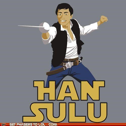 Fencing,george takei,Han Solo,Harrison Ford,Star Trek,star wars,sulu