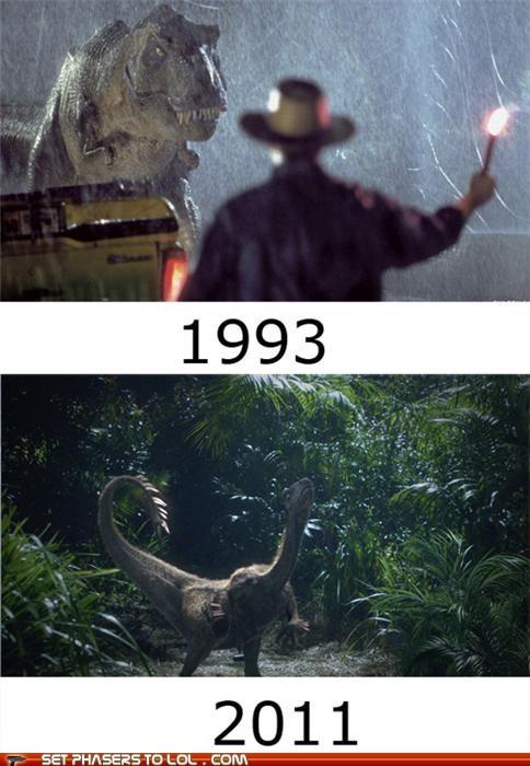 cgi,dinosaurs,jurassic park,quality,terra nova,time