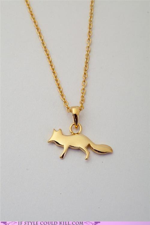 cool accessories etsy fox necklace - 5395542784