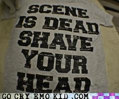 scene,shave your head,T.Shirt,weird kid