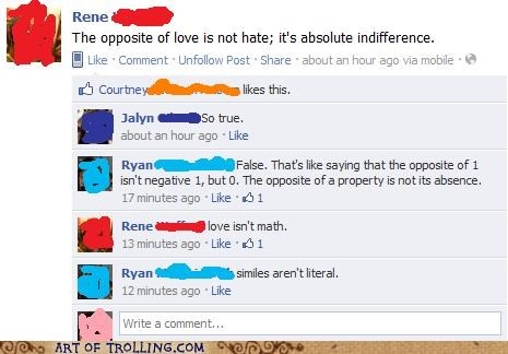 facebook hate love opposites - 5395693824