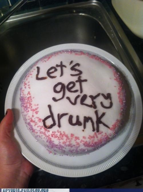 advice,cake,drinking,drunk,good idea,lets