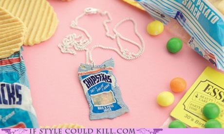 chips,cool accessories,DIY,food,necklace,tatty devine