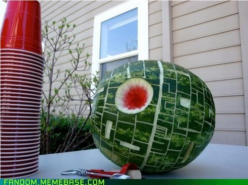 cantaloupe Death Star It Came From the Interwebz star wars watermelon - 5395811584