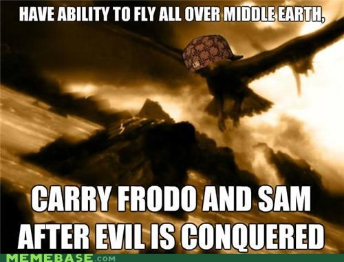 books,eagles,evil,frodo,gandalf,Lord of the Rings,Memes,Sam