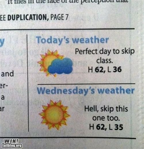 class,forecast,school,skip class,weather
